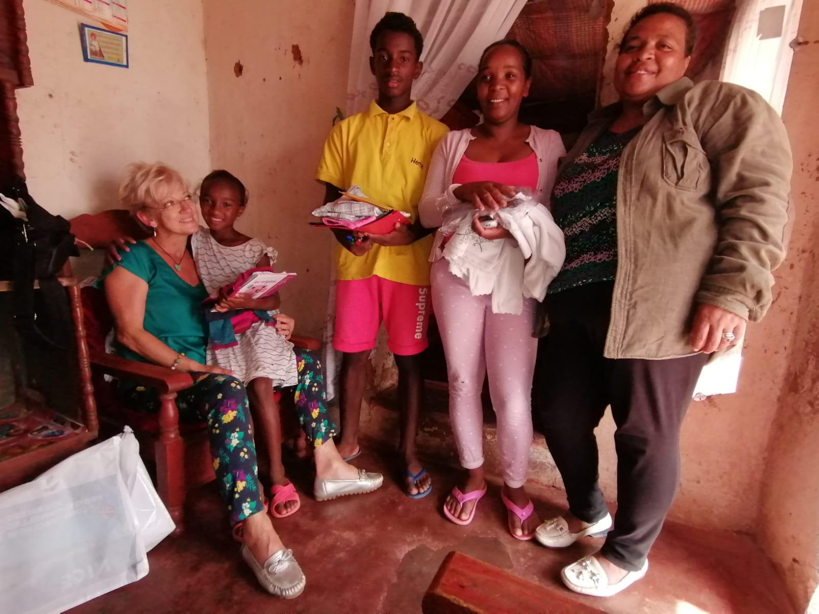 Fabienne visite des familles
