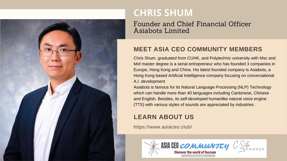 Founder and Chief Financial Officer