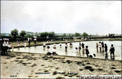 Building the boating lake (in the background)