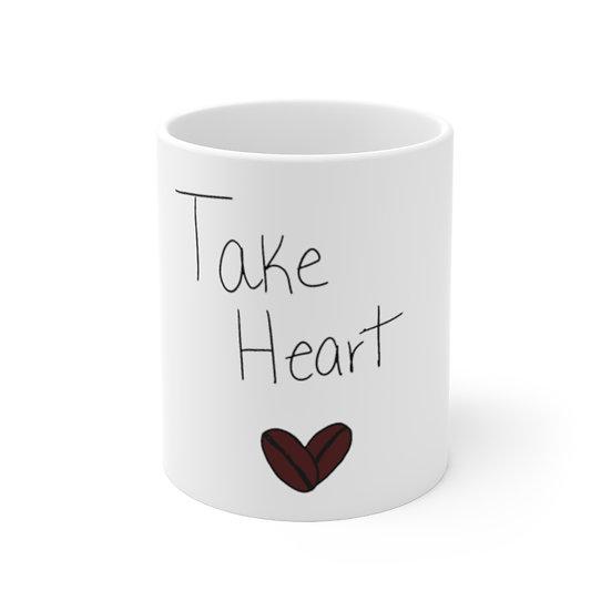 "11oz Mug - ""Take Heart"" Original Art Made in America"