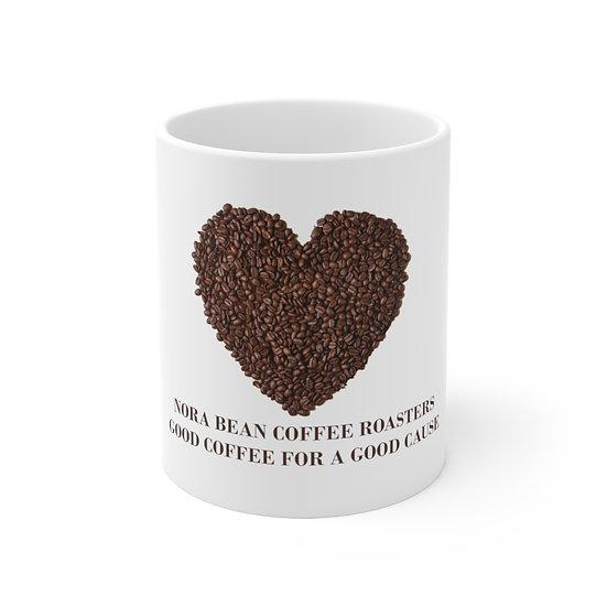 Good Cause Heart Coffee Mug Ceramic 11oz - Made and Printed in USA