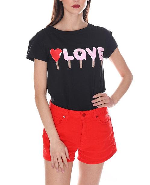 Love Moschino - T-Shirt Donna Con stampa Gelato W4F301UE1698