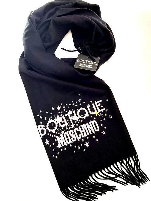 Boutique Moschino - Sciarpa Donna In Lana Con Stampa Boutique Moschino