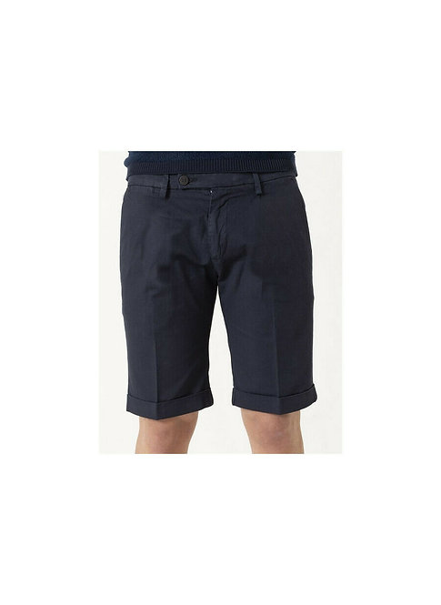 Michael Coal- Pantalone Bermuda Uomo Tasca America Blu Navy