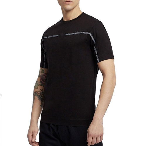 Emporio Armani- T-shirt Uomo Nera Con Applicazioni Logo 3G1TM5 1JTUZ