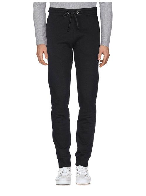 Bikkembergs - Pantalone Tuta Uomo Grigio Con Logo Ricamato Bianco C10962CM4