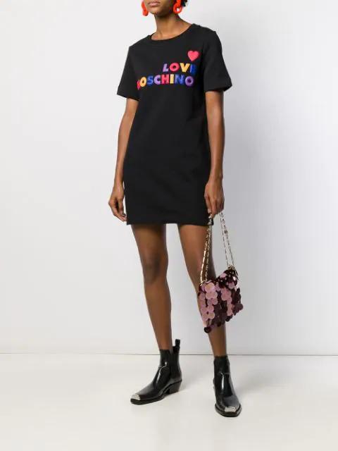 Love Moschino - Vestito Abito Con logo Multicolore W584710M4068