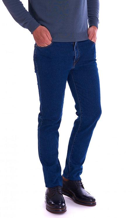 Trussardi Jeans- Jeans Uomo Trussardi Jeans Mod.380 Icon High Waist Blu