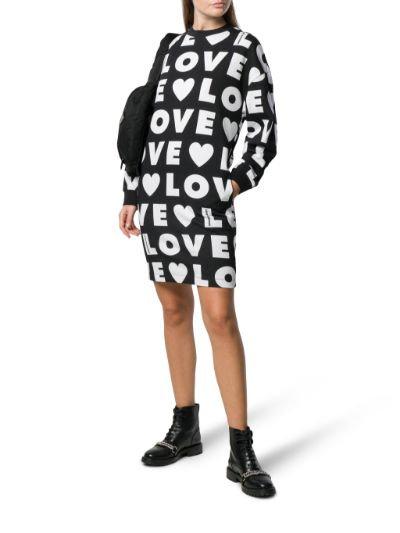 Love Moschino - Vestito Abito Felpato Con Fantasia W5B2000M4139