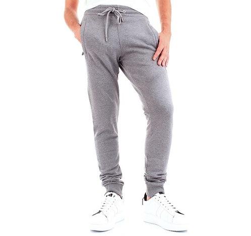 Bikkembergs - Pantalone Tuta Uomo Grigio Con Logo Ricamato Blu C10962CM4121