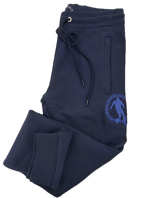 Bikkembergs- Pantalone Tuta Uomo Grigio Con Logo Ricamato Blu C10962CM4