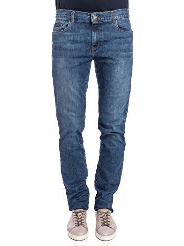 Trussardi Jeans- Jeans Uomo  Trussardi Mod. 370 Close Mide Rise Stone Washed