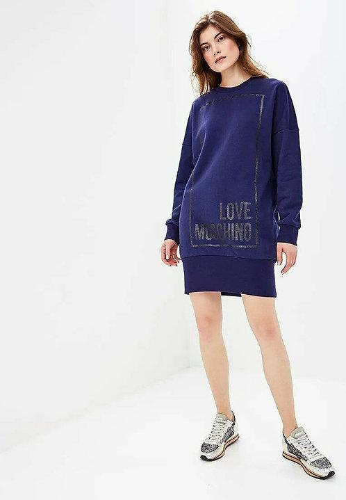 Love Moschino - Abito Donna Con Glitter Quadrato