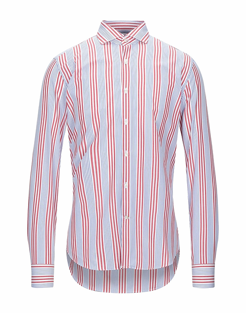 GHR - Camicia Uomo Con Fantasia Bacchettata Regular Fit P166