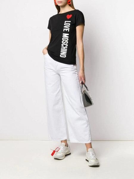 Love Moschino - T-Shirt Love Moschino Con cuore E Logo W4F301QE1698
