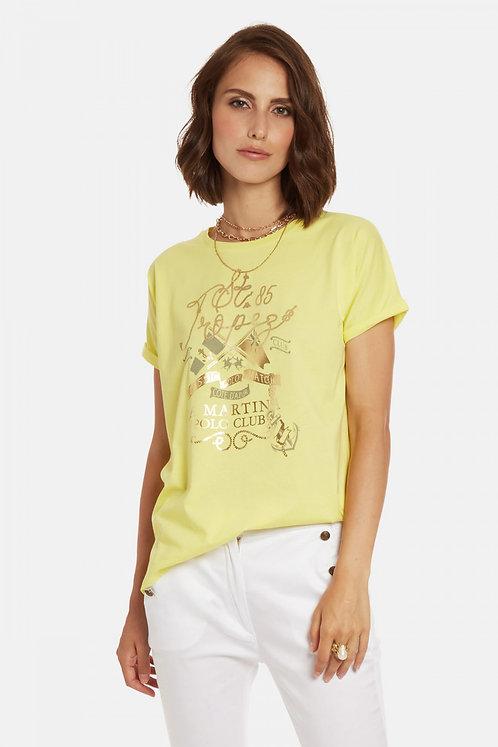 LaMartina-T-shirt Donna In Cotone Regular Fit