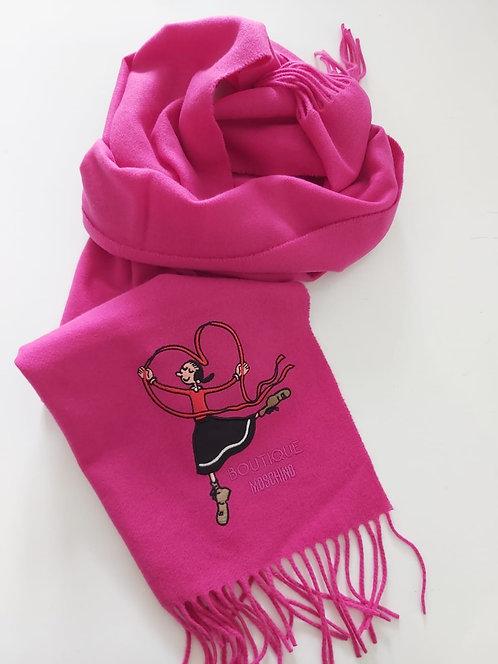 Boutique Moschino - Sciarpa Donna In Lana  Con Ricamo Di Olivia