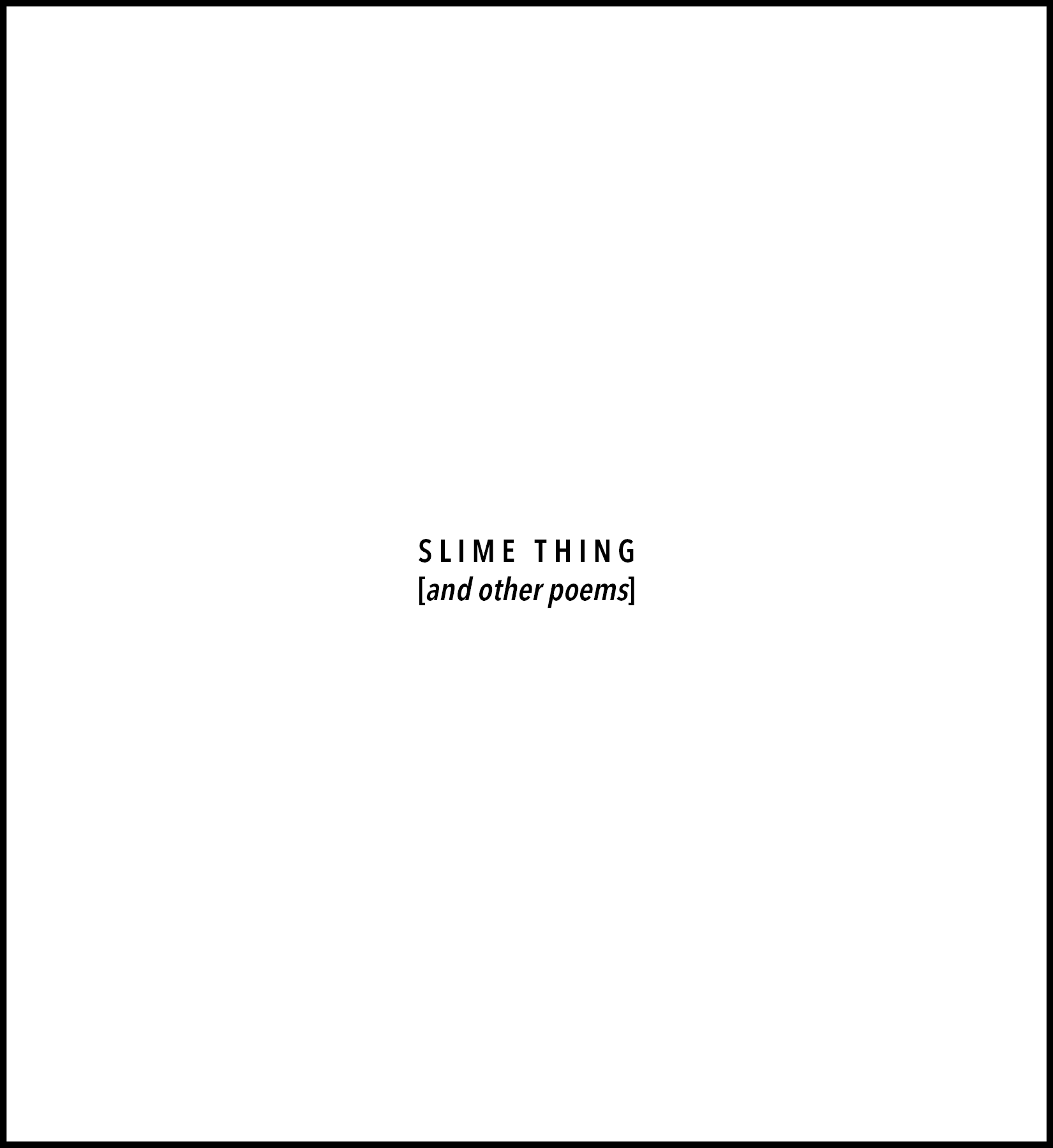 SLIME THING COVER