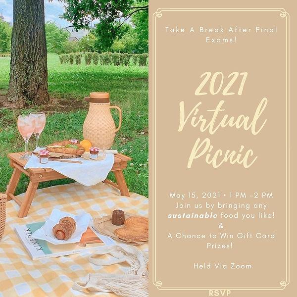 2021 Virtual Picnic - May 15, 2021 - 1PM - 2PM