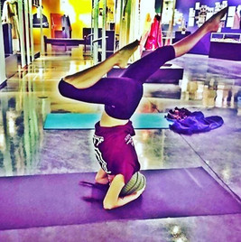 Not head over heels about this weather_ Escape the cold by working up a sweat on your lunch break FREE yoga at noon every Tuesday at the El_