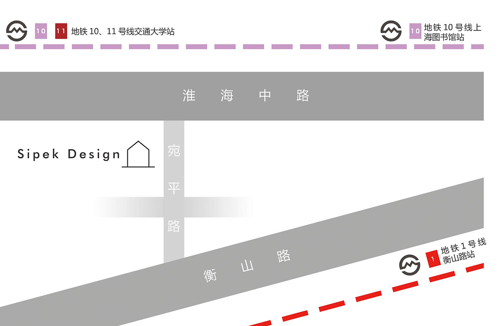 Sipek Design Shop Shanghai location map
