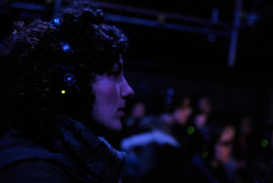 Laura in headphones.JPG