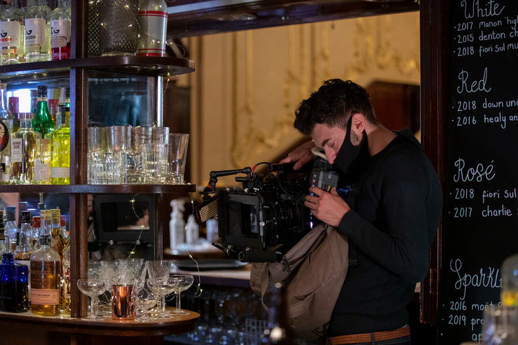 Filming of The Telephone, a co-productio