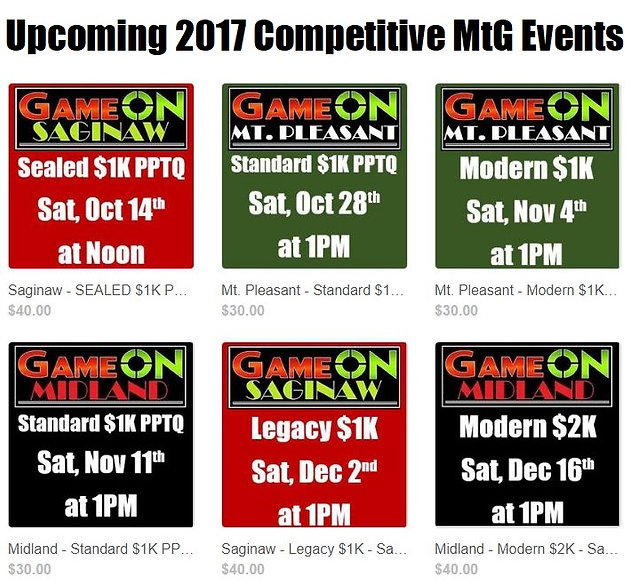 Mtg Pptq Schedule 2020 Upcoming 2017 Competitive MtG Events | Game On | Game On Michigan