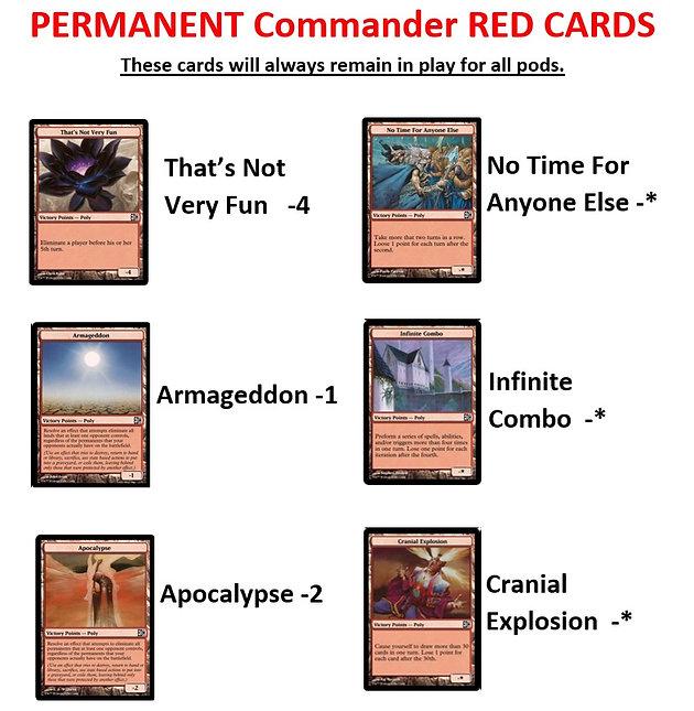 A Closer Look at the TCC Commander League Points Cards