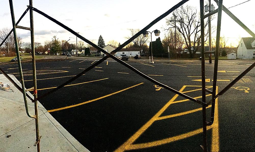 Final paved parking lot