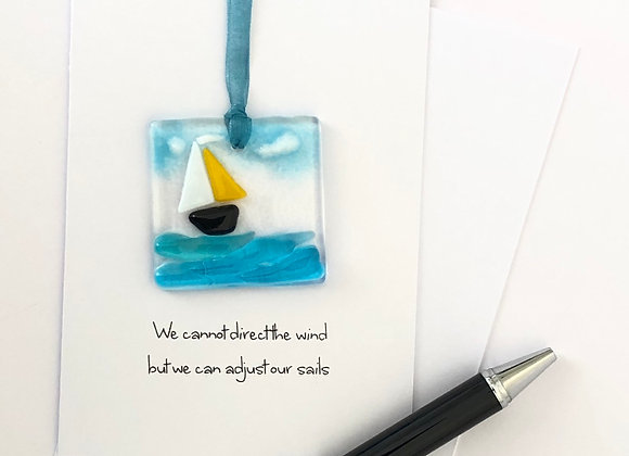 Mini Waves Sun Catcher Greeting Card
