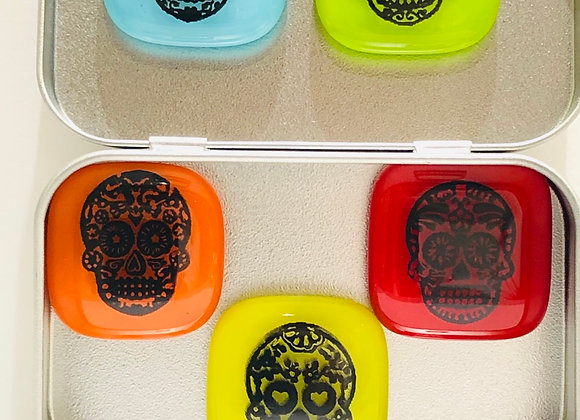 Candy Skull Fridge Magnets