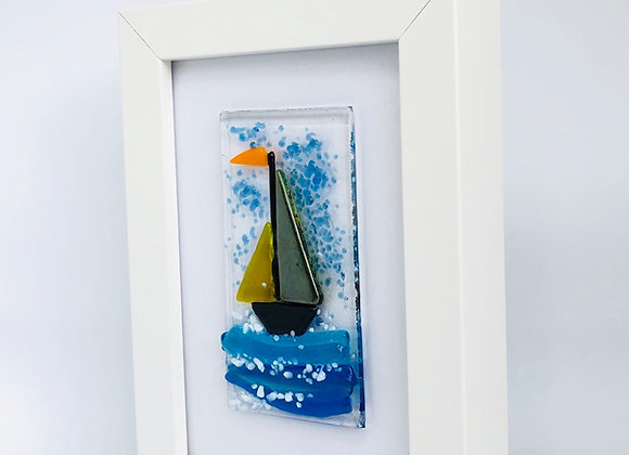 Yacht on Waves Framed Picture