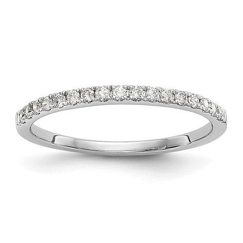 14K White Gold Diamond Wedding Band .17ct