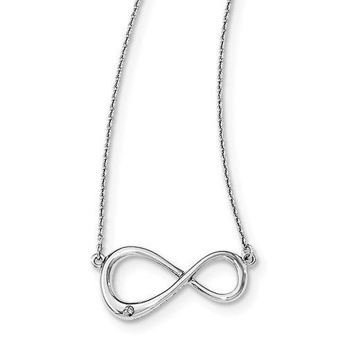 White Ice Infinity Necklace