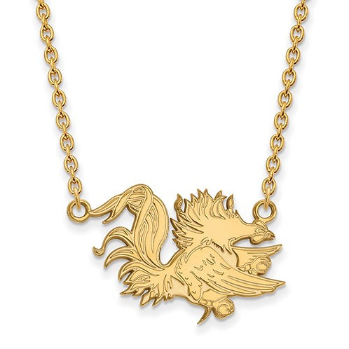 10ky LogoArt University Of South Carolina Large Pendant With Necklace