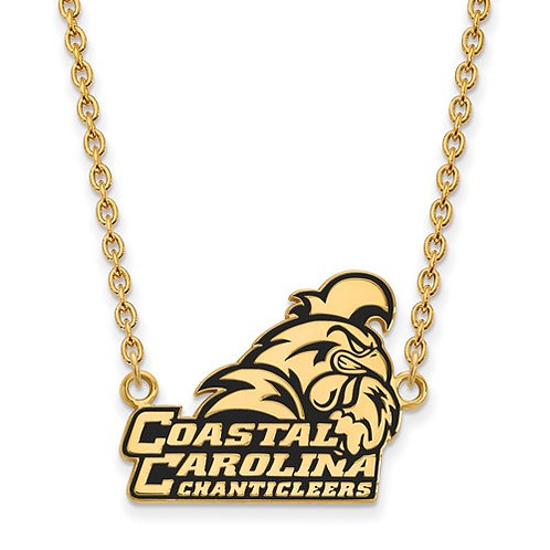 Sterling Silver GP LogoArt Coastal Carolina Pendant With Necklace