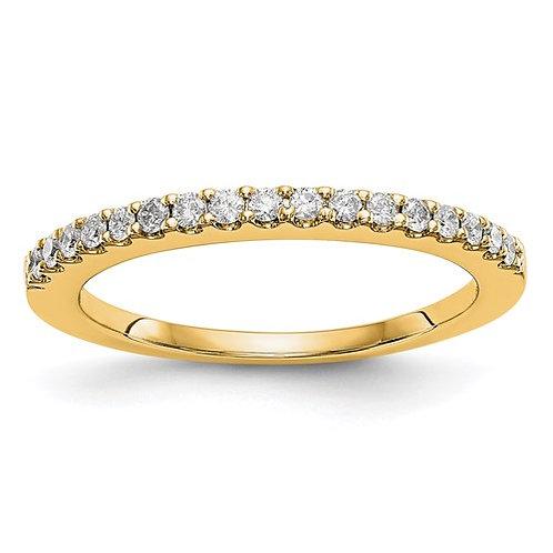 14K Yellow Gold Diamond Wedding Band .34ct