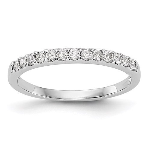 14K White Gold Diamond Band .25ct