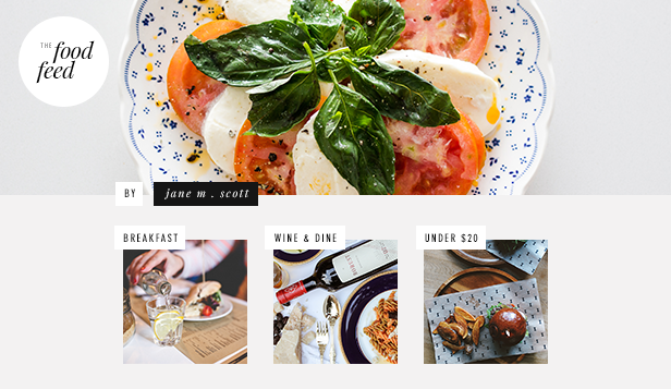 Lifestyle website templates – Alles over eten