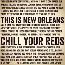 Chill Your Reds PSA