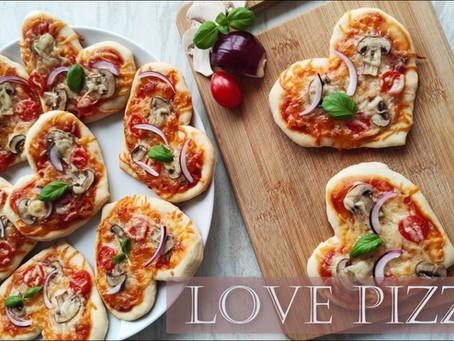 ❤️ Pizzerinki w kształcie serca ❤️ Błyskawiczne , bez wyrastania ❤️