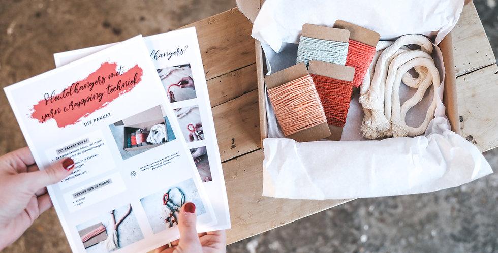 DIY Pakket - Kleurrijke sleutelhangers van garen
