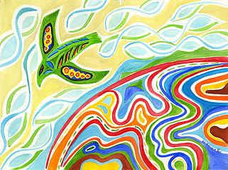 11 x 14 Canvas Print - Worldview Bird