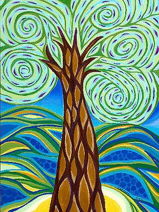 11 X 14 Matted Print - Green Tree