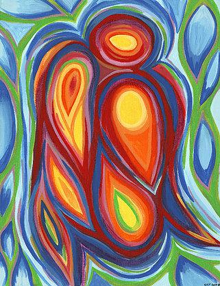 11 x 14 Canvas Print - Guardian Angel