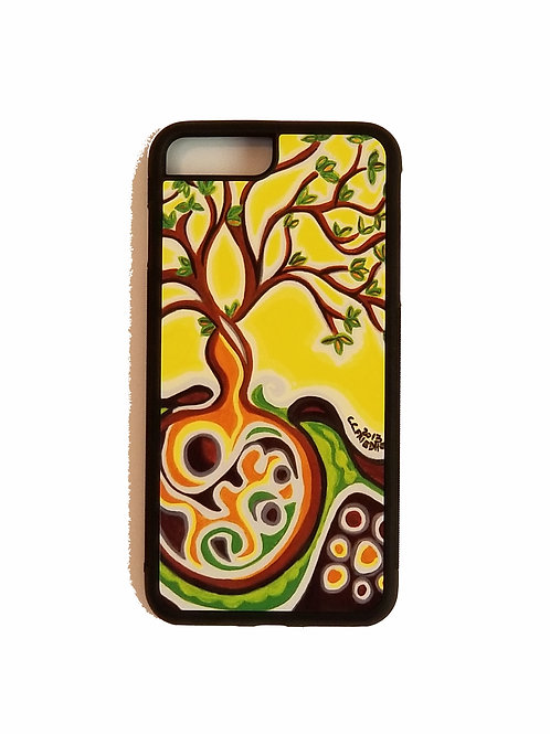 iPhone 7 Plus or iPhone 8 Plus phone case - Yellow Tree