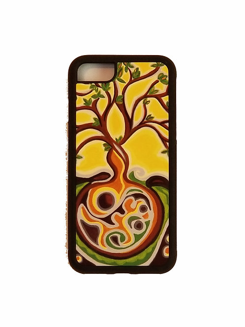 iPhone 7 or iPhone 8 phone case - Yellow Tree