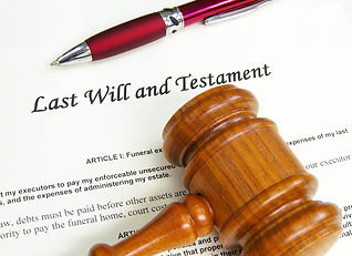 Last Will and Testament document with ga