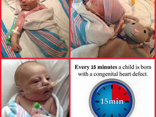 Approximately one of every 100 babies is born with a congenital heart defect. ONE IN 100.